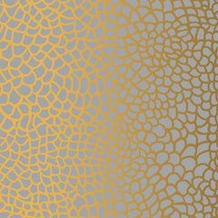 Hand-Screened Peel Wallpaper in Rich Gold Colorway
