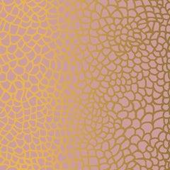 Hand-Screened Peel Wallpaper in Blush Gold Colorway