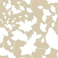 Hand-Screened Maidenhair Wallpaper in Caramel Colorway