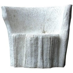 Cast Resin 'Acacia' Chair, Natural Concrete finish by Zachary A. Design