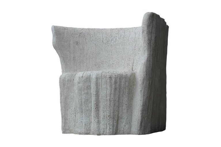 The mold for this Acacia chair was created from an actual tree stump. Pictured in our natural stone finish, the texture and modern look of concrete make it appropriate for a wide variety of styles and spaces.  Measures: The Acacia chair (ZBT108) is