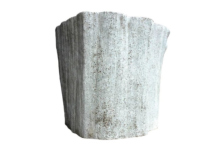 American Cast Resin 'Acacia' Chair, Natural Concrete finish by Zachary A. Design For Sale