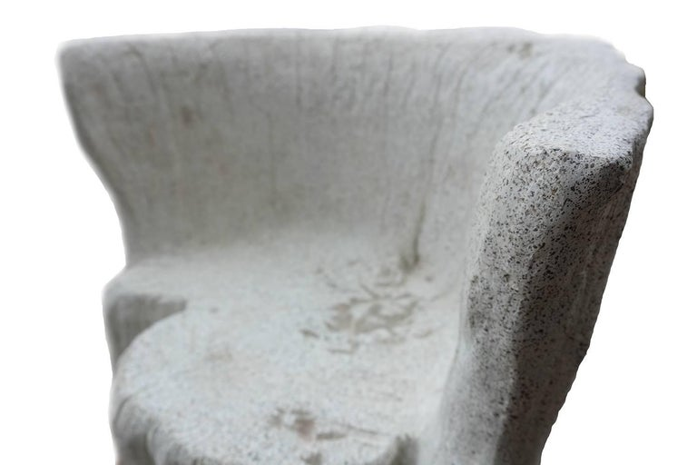Contemporary Cast Resin 'Acacia' Chair, Natural Concrete finish by Zachary A. Design For Sale