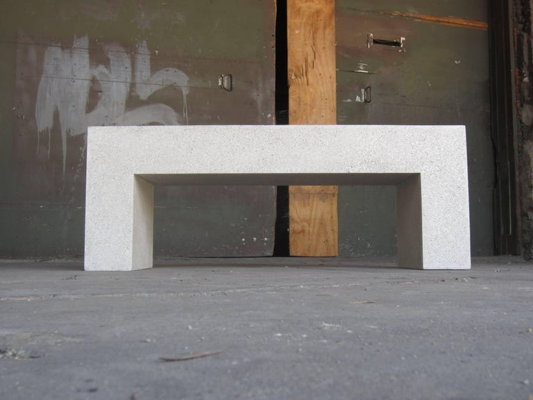 Cast Resin 'Aspen' Bench, Natural Concrete finish by Zachary A. Design In New Condition For Sale In Chicago, IL