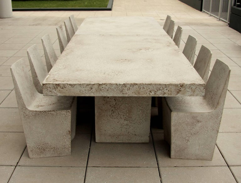 Contemporary  Cast Resin 'Stone' Dining Chair, Aged Stone finish by Zachary A. Design For Sale