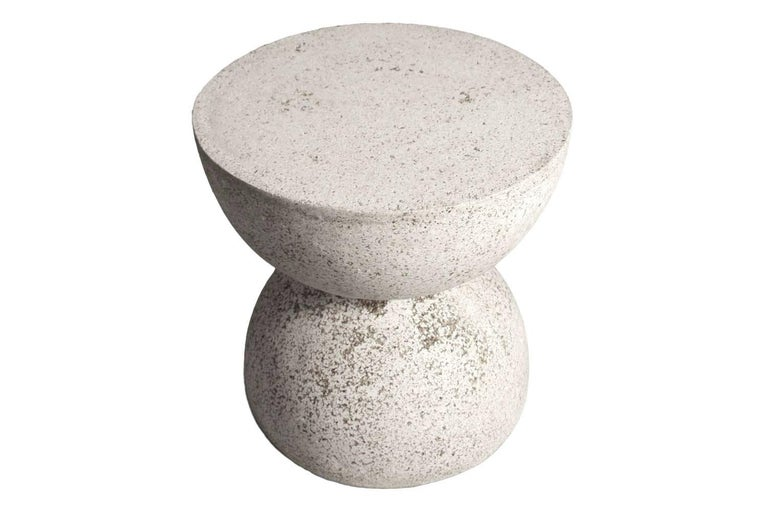 Cast Resin 'Bilbouquet' Side Table, Natural Stone Finish by Zachary A. Design In New Condition For Sale In Chicago, IL