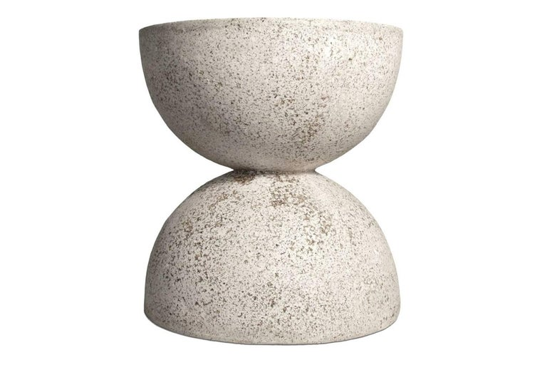 American Cast Resin 'Bilbouquet' Side Table, Natural Stone Finish by Zachary A. Design For Sale