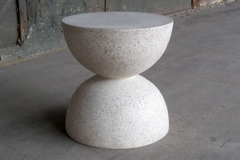 Contemporary Cast Resin 'Bilbouquet' Side Table, Natural Stone Finish by Zachary A. Design For Sale