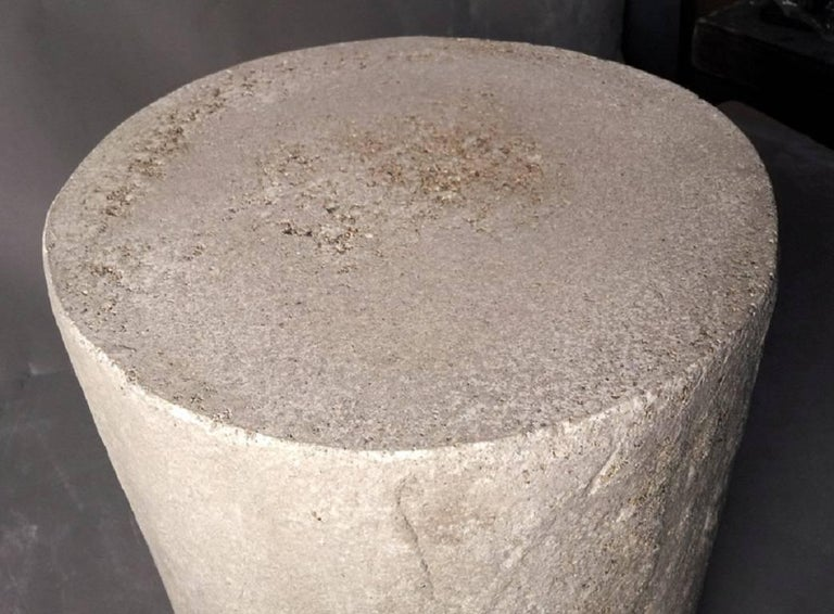 The Dock Stool can be used as both a stool or side table. Pictured in our Aged Stone finish, the texture and modern look of concrete make it appropriate for a wide variety of styles and spaces.  The Dock Stool (ZBT206) is 14