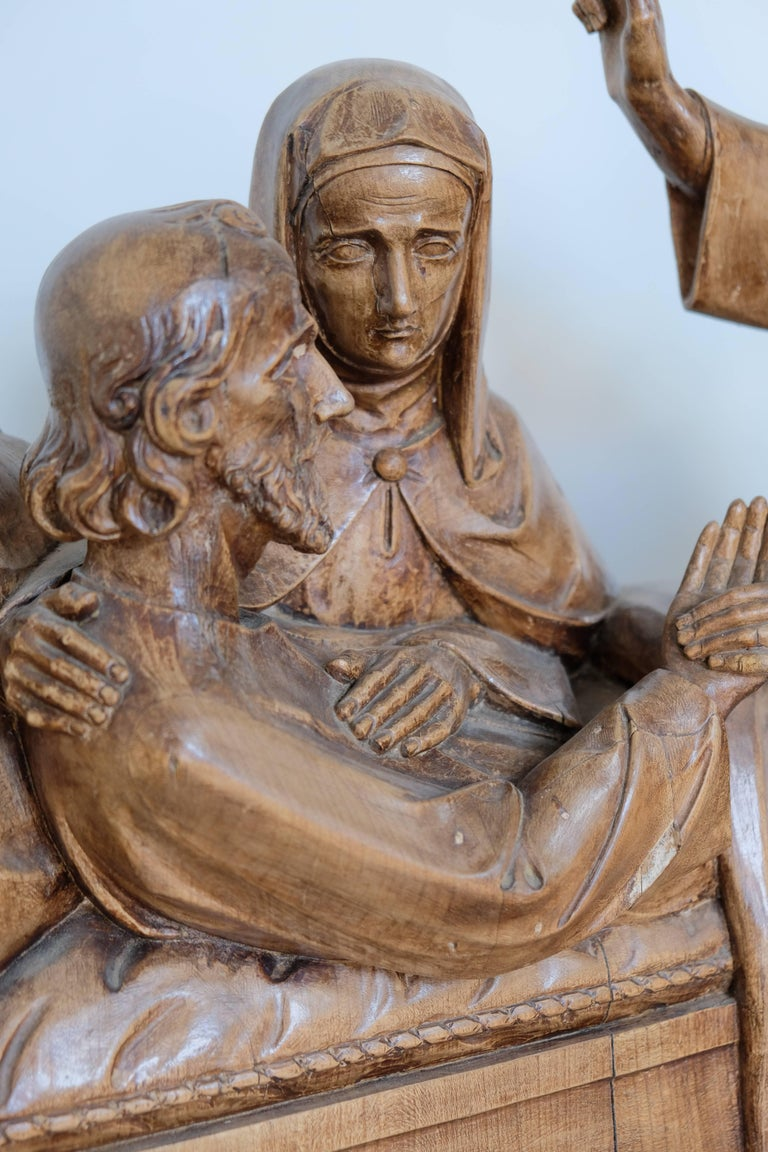 Religious carving death of st joseph for sale at stdibs