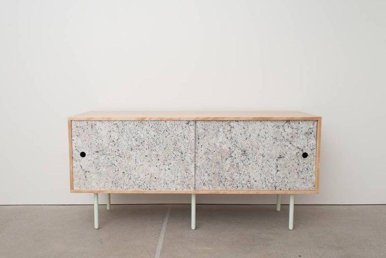 Birch Veneer Buffet ~ Basic bitch contemporary birch credenza sideboard with
