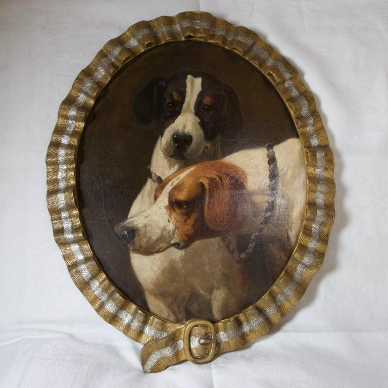Antique Miniature Dog Paintings For Sale