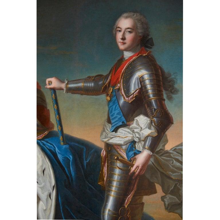 Louis XV 18th Century Royal Portrait by Nattier Workshop For Sale