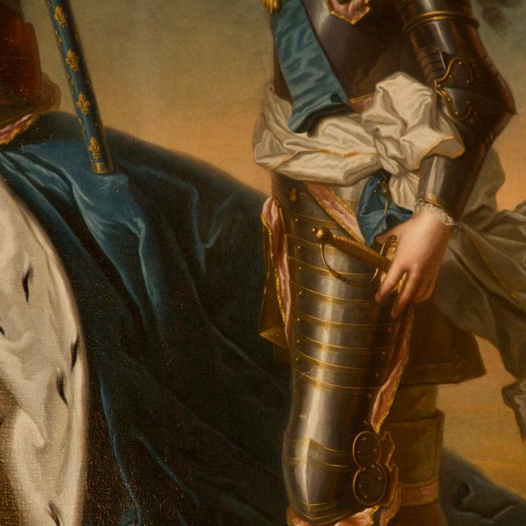 Canvas 18th Century Royal Portrait by Nattier Workshop For Sale