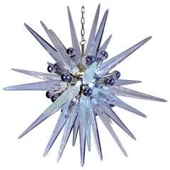 Exceptional Glass Sputnik Chandelier, Murano