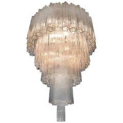 Italian Tronchi Chandelier in the Style Toni Zuccheri for Venini, Murano