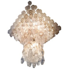 Original Poliedri Chandelier by Carlo Scarpa for Venini, 1960s