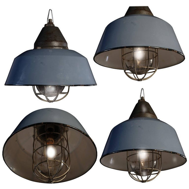 Set Of Four Pendant Lights Budapest 1950s