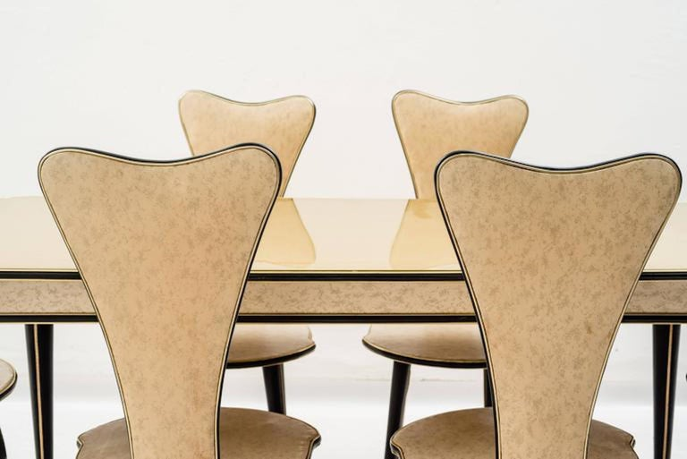 Dining Table and Set of Six Chairs by Umberto Mascagni, 1950s For Sale 2