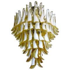 Elegant 84-Petal Chandelier, Murano