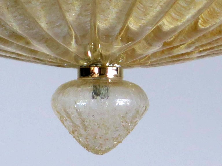 Large Ceiling Leaves Barovier & Toso Style, Murano, 1980s In Excellent Condition For Sale In Budapest, HU