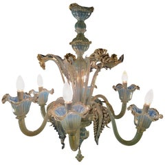 Classic and Spectacular Venetian Chandelier, Murano, 1960