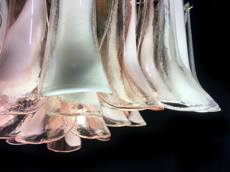 Pair of 'Flamingo' Italian Chandeliers Ceiling Lights, Murano For Sale 4