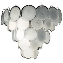 Italian Disc Chandelier by Vistosi, Murano, 1970s
