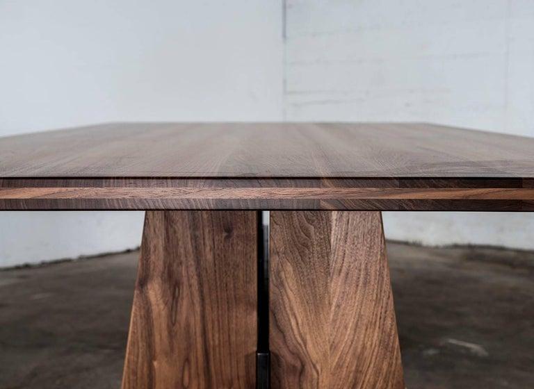 Table, Dining, Custom, Hardwood, Steel, Modern, Semigood For Sale 1
