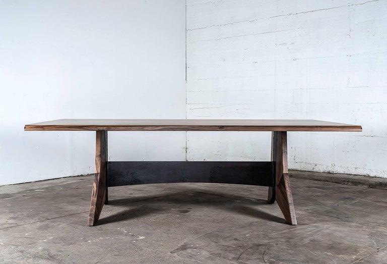 American Table, Dining, Custom, Hardwood, Steel, Modern, Semigood For Sale