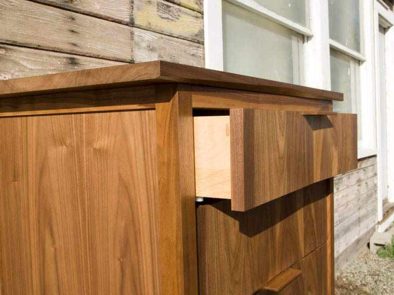 This dressers hardwood frame, soft closing undermout drawer set and panel construction and mortise and tenon joinery make for the most beautiful and well crafted storage product on the market. Complete the set with the Rift loft bed and Rift end
