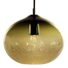 Bronze Ellipse Bubble Pendant, Handblown Glass