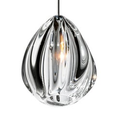 Clear Barnacle Pendant Lighting, Handblown Glass by Siemon & Salazar