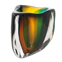 Modern Glass Vase, Jungle Low Triangle by Siemon & Salazar - Made to Order
