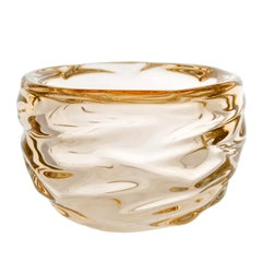 Modern Glass Bowl, Champagne Happy Bowl by Siemon & Salazar - Made to Order