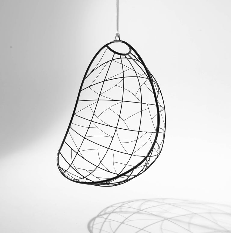 Hand-Crafted Nest Egg Hanging Swing Chair For Sale