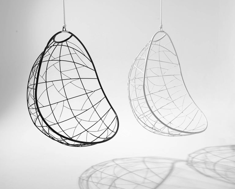 Contemporary Nest Egg Hanging Swing Chair For Sale