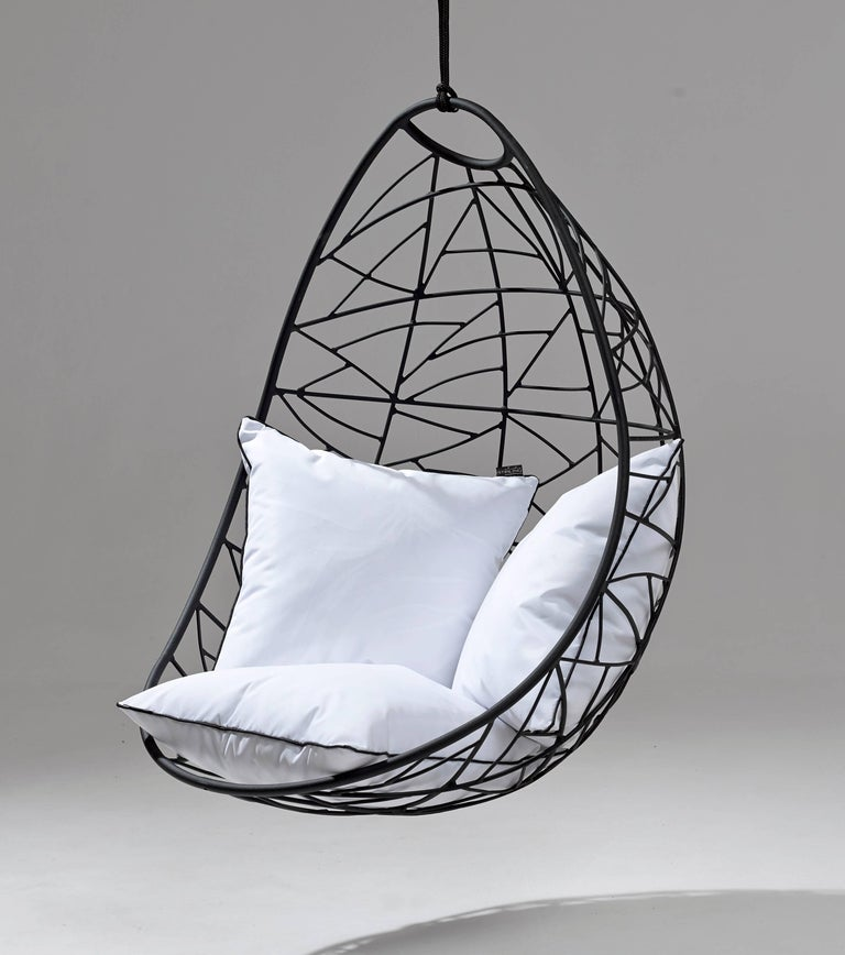 Steel Nest Egg Hanging Swing Chair For Sale