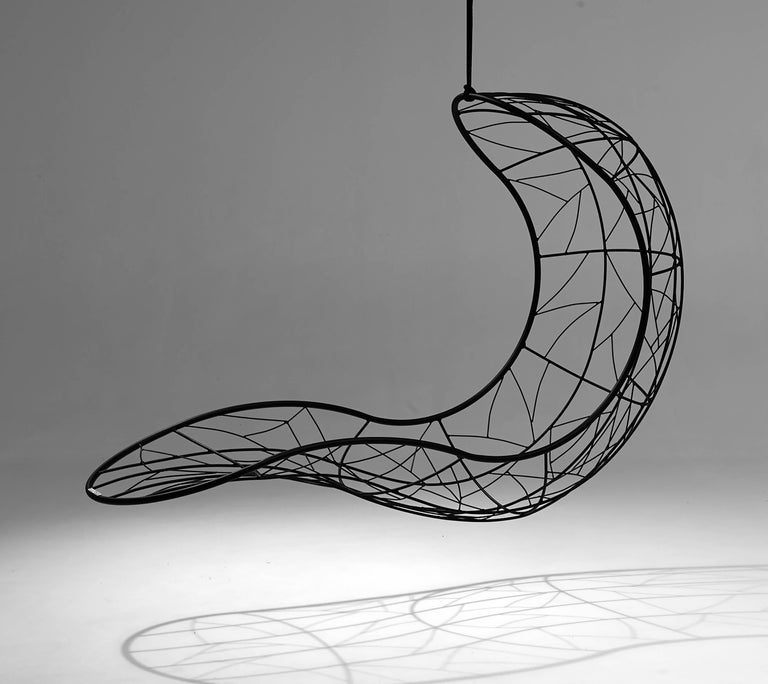 Organic Modern Recliner 'Single' Hanging Swing Chair For Sale