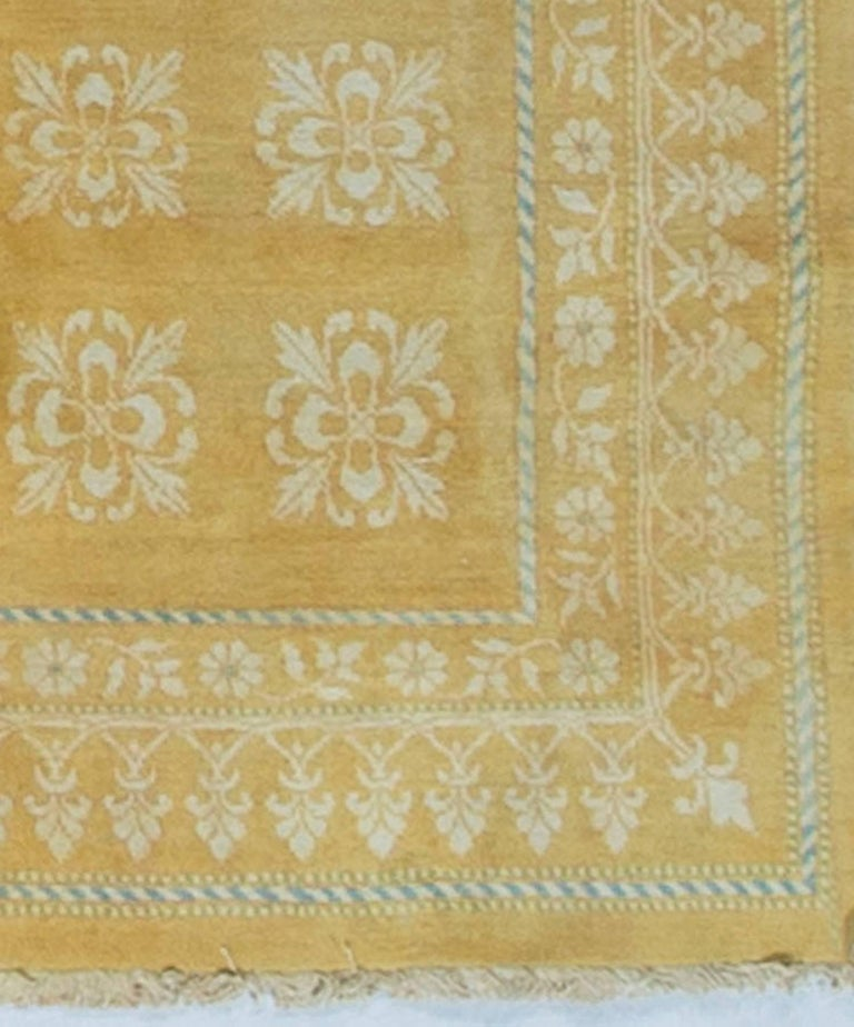 Antique Cotton Agra Rug With Abrash Circa 1900 For Sale: Antique Indian Cotton Agra Rug For Sale At 1stdibs