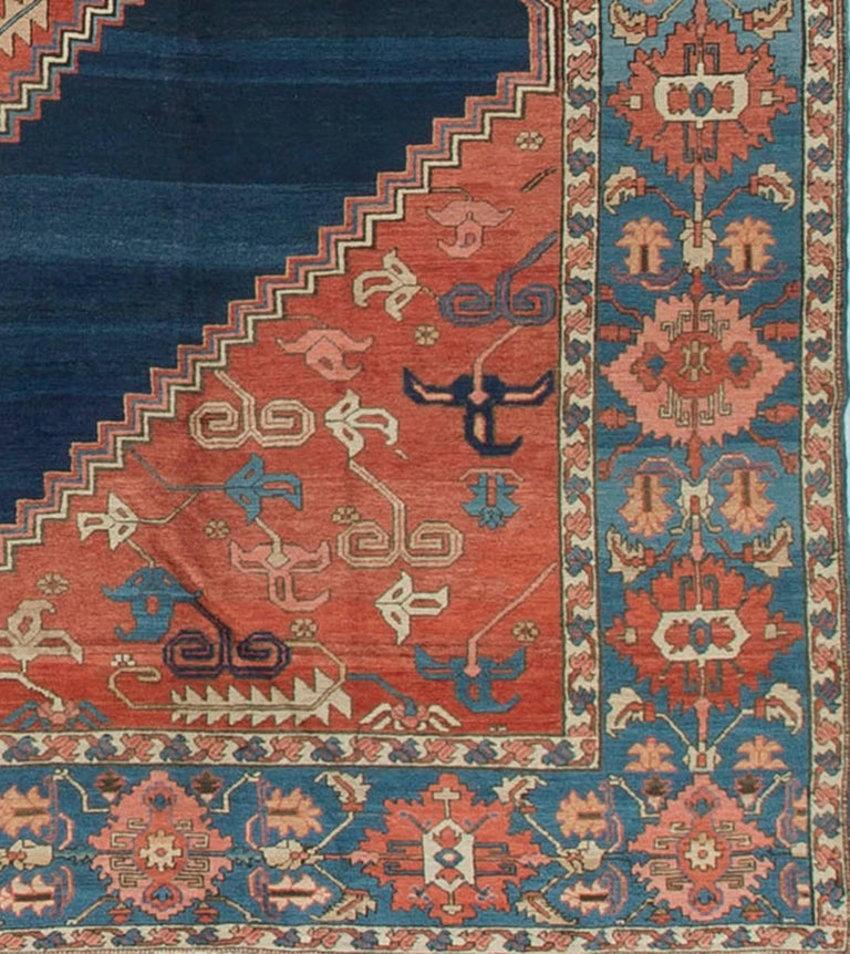 Heriz Serapi Antique Persian Serapi Rug Carpet circa 1890 For Sale