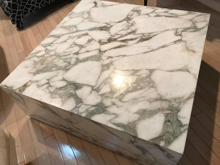 Carrara Marble Cube Coffee Table At Stdibs - Marble cube coffee table