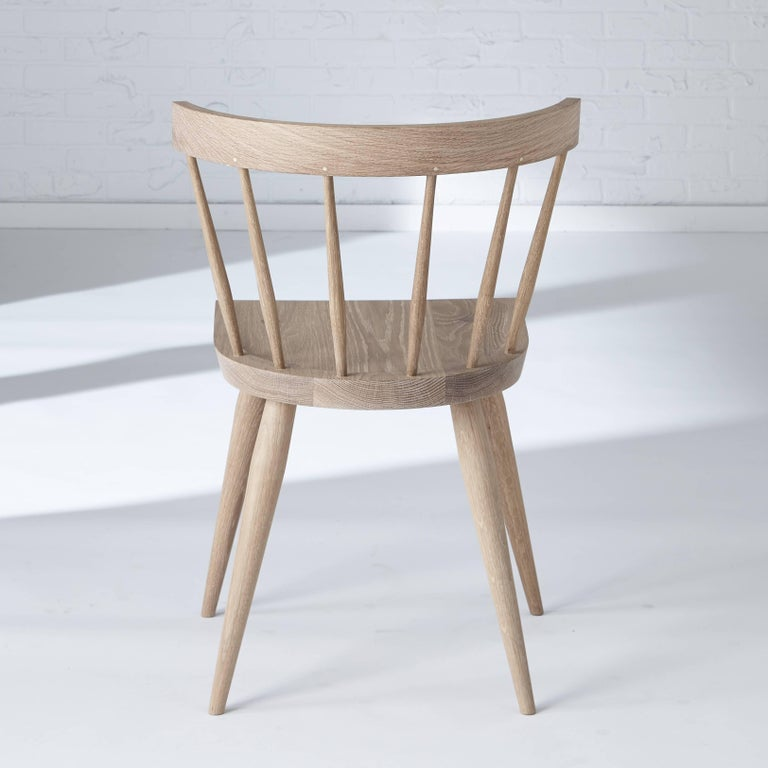 Magnificent White Oak Windsor Dining Chair By Coolican Company Pdpeps Interior Chair Design Pdpepsorg