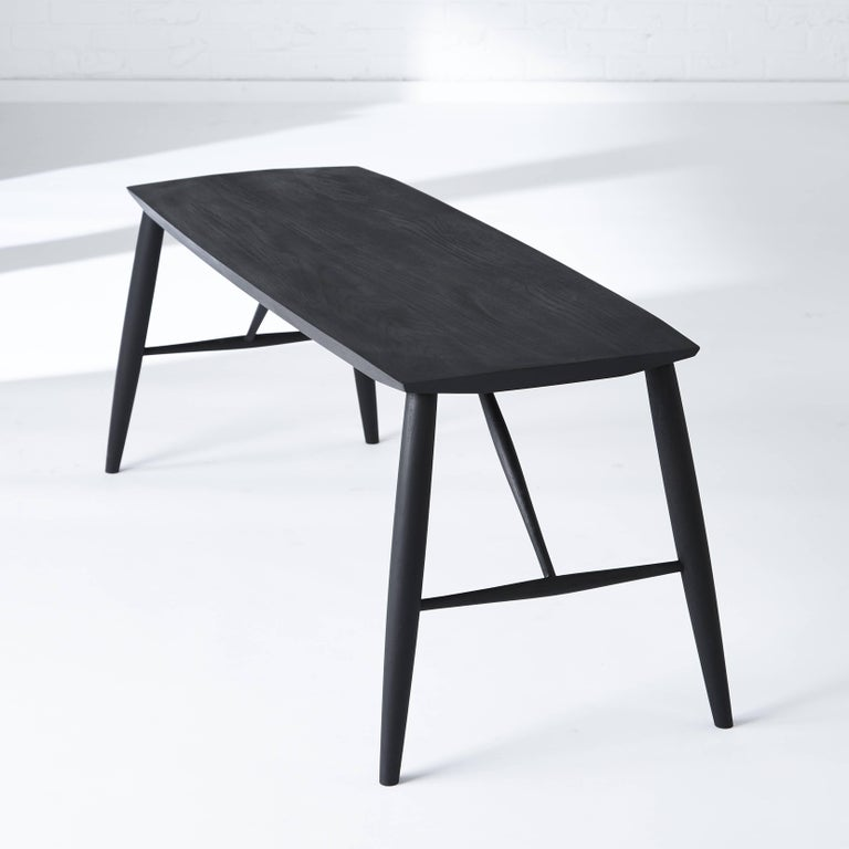 Scandinavian Modern Contemporary Shaker Minimalist Adelaide Bench in White Oak For Sale