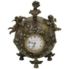 Late 18th Century Small Round Clock by Isaac Soret & Fils