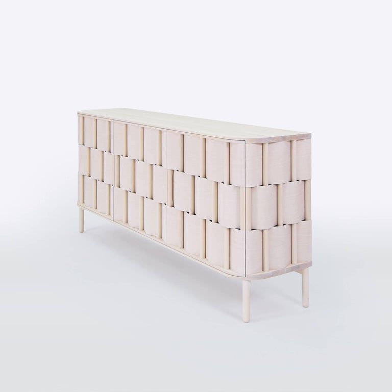 Weave W196-N Birch sideboard, made of solid birchwood and laminated birchveneér. Modern yet classic, bold yet modest the cabinet serves as a great example of scandinavian contemporary design. Designed by Lukas Dahlén.  The minimal yet expressive
