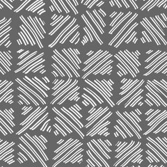 Hatched Hand Drawn Lines in White on Grey