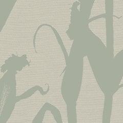Chesterfield-Corn Silhouette Wallpaper in Sage