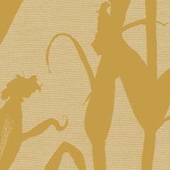 Chesterfield-Corn Silhouette Wallpaper in Mustard