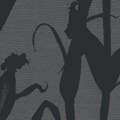 Chesterfield-Corn Silhouette Wallpaper in Eclipse